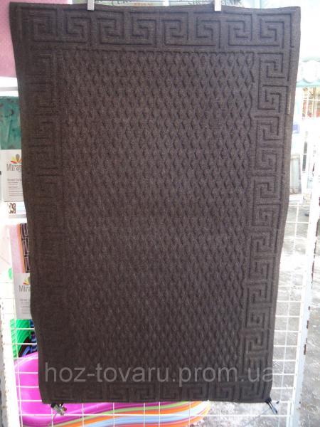 Коврик с ворсой на резиновой основе 116 см*73 см(песочный)