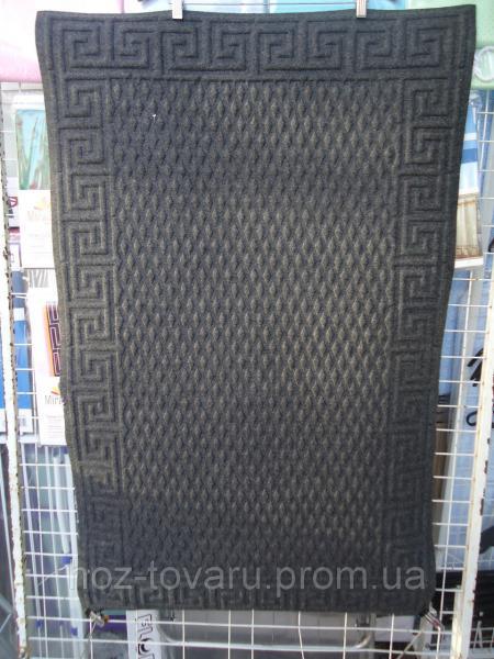 Коврик с ворсой на резиновой основе 116 см*73 см(серый)