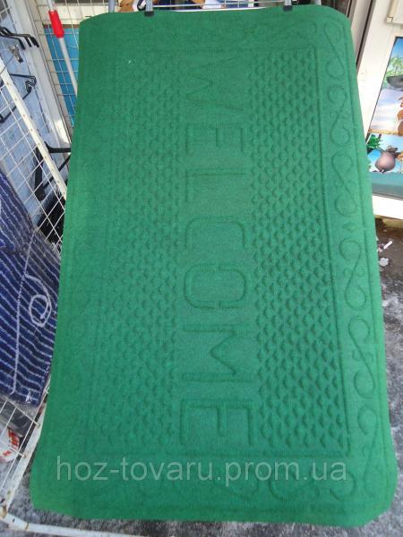 Коврик с ворсой на резиновой основе Welcome 116 см*73 см(зеленый)