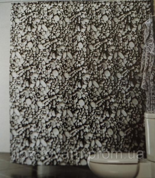 Шторка,занавеска в ванную комнату Miranda(камни)