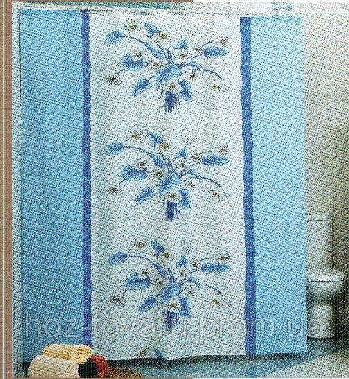 Шторка,занавеска в ванную комнату Miranda(орхидеи)