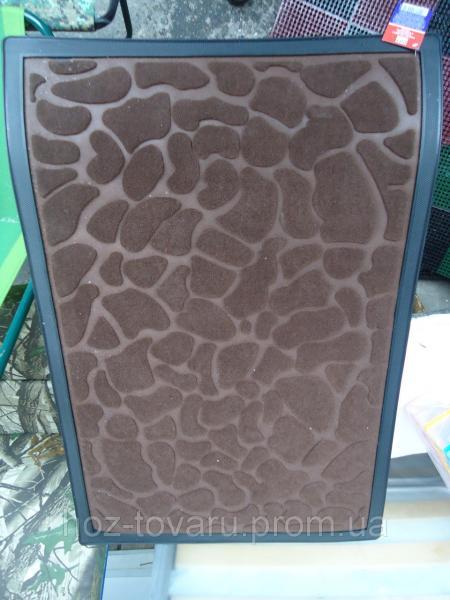 Коврик под двери с окантовкой и узором 60 см*90 см
