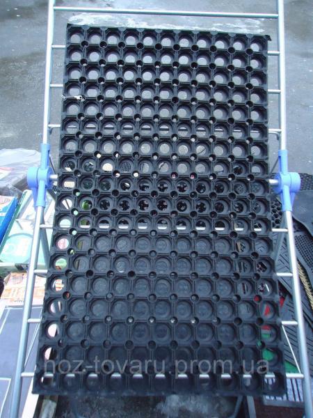 Коврик резиновый Сота 22 мм,Размер 75 х 45,цвет черный,Производитель Индия.