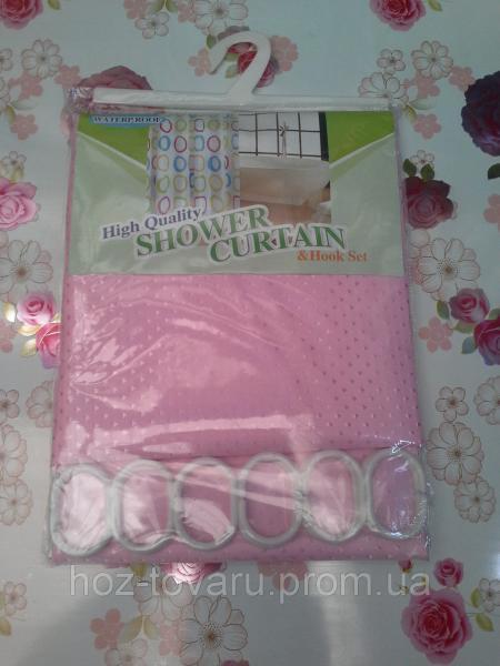 Шторка в ванную комнату тканевая shower curtain 3