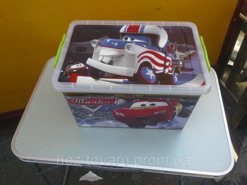 Ящик для игрушек Тачки (23 л)