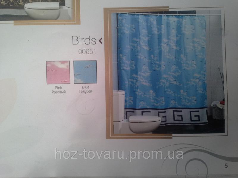Шторка,занавеска в ванную комнату Miranda(birds)