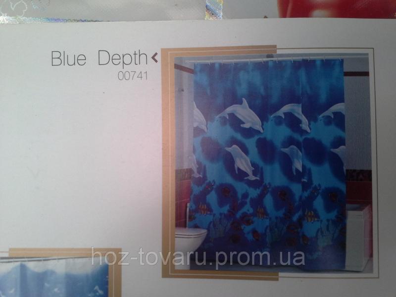 Шторка,занавеска в ванную комнату Miranda(blue depth)