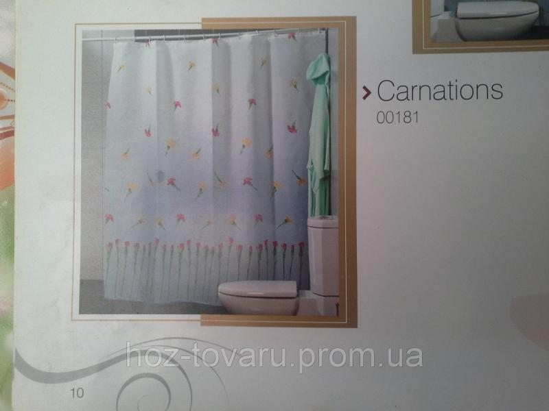Шторка,занавеска в ванную комнату Miranda(carnations)