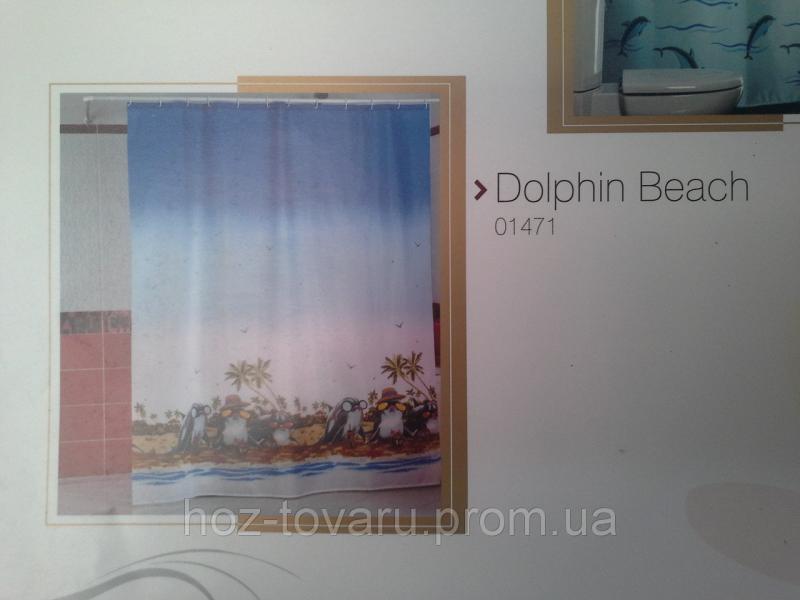 Шторка,занавеска в ванную комнату Miranda(dolphin beach)