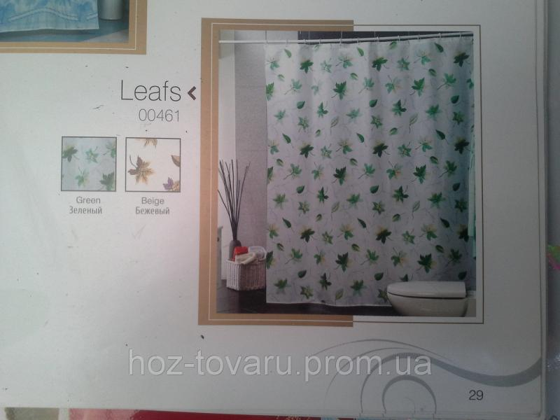 Шторка,занавеска в ванную комнату Miranda(leafs)