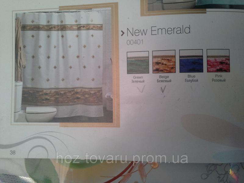 Шторка,занавеска в ванную комнату Miranda(new emirald)