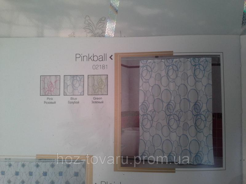 Шторка,занавеска в ванную комнату Miranda(pinkball)
