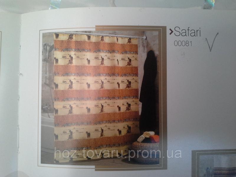 Шторка,занавеска в ванную комнату Miranda(safari)