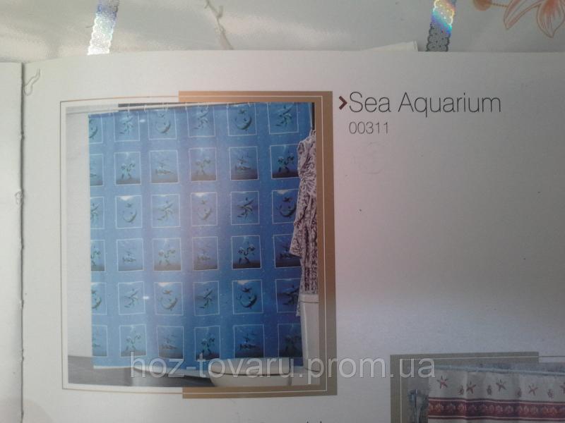 Шторка,занавеска в ванную комнату Miranda(sea aquarium)