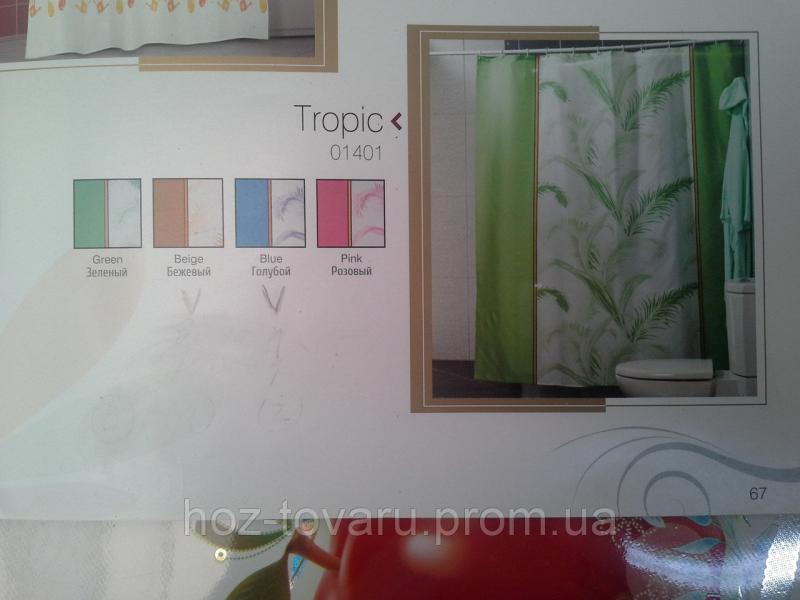 Шторка,занавеска в ванную комнату Miranda(tropic)