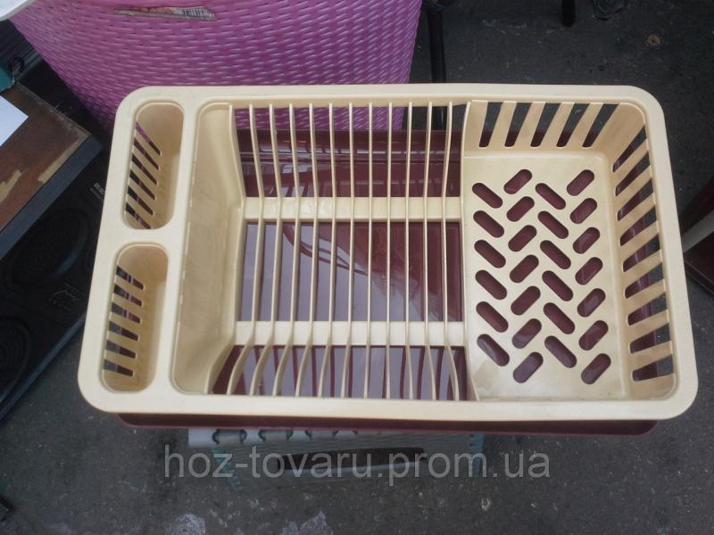 Сушка для посуды 1 ярусная украина (бежевая)