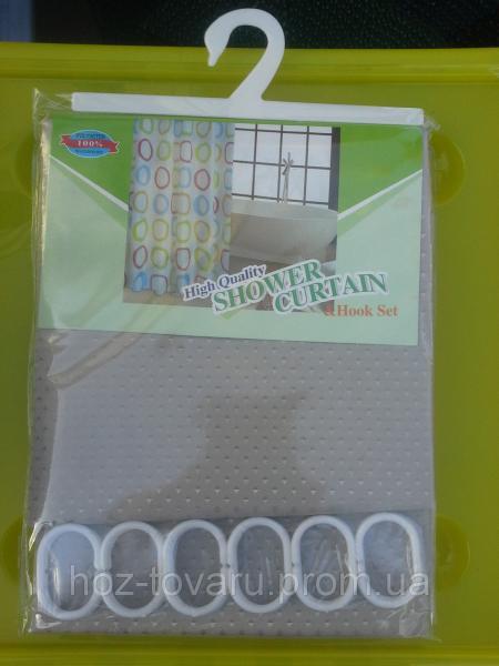 Шторка в ванную комнату тканевая shower curtain 14