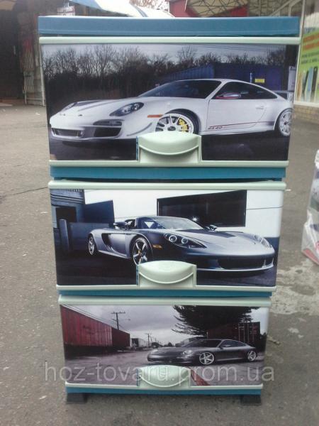 Комод пластиковый элиф Porsche на 3 ящика