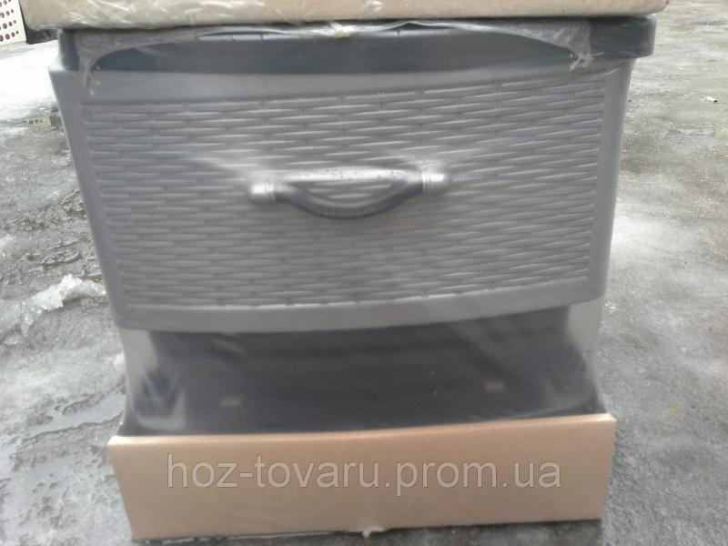 Пластиковый комод EF 3( серый с закрытыми лицевыми панелями)