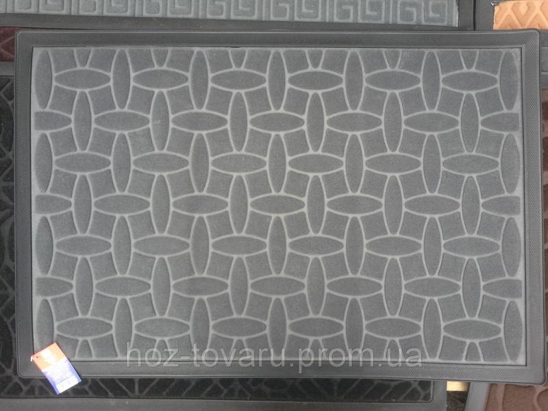 Коврик под двери с окантовкой и узором(8) 60 см*90 см
