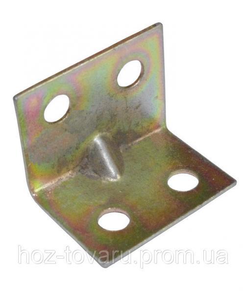 Уголок крепежный №24/2 тонкий (17х17х24х1-1.2) ТМ БеМаС