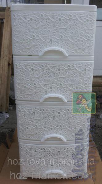 КОМОД ЭФ Ажур белый - Пластиковые комоды и ящики для хранения в Харькове