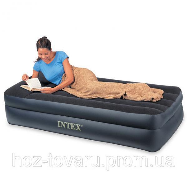 Надувная велюр кровать Intex 66721