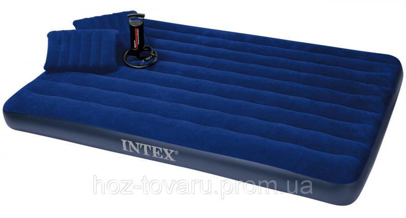 Надувной матрас велюр Intex 68765