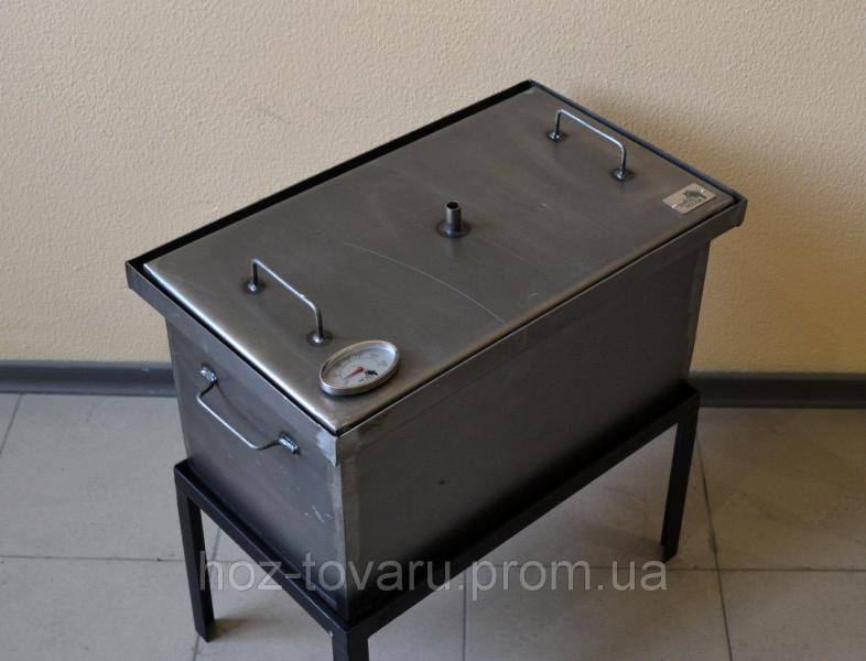 Коптильня с термометром для горячего копчения (520х300х280)