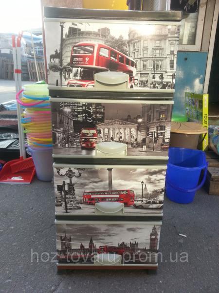 Комод пластиковый элиф Лондон 2