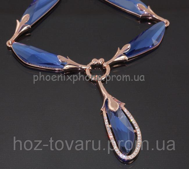 Шикарное ожерелье с кристаллами Swarovski, покрытое слоями золота (302851)