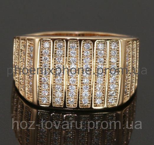 Кольцо, усыпанное фианитами, покрытое золотом (127170) 20
