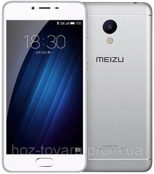 "Meizu М3S silver  3/32 Gb, 5"", MT6750, 3G, 4G"