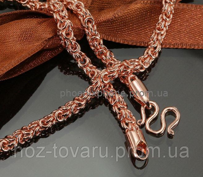 Видная цепочка, с красивым плетением, покрытая золотом (515мм*4мм) (40002)