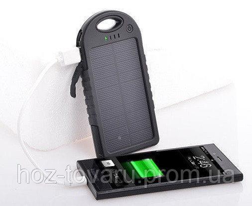 Power Bank 5000 mAh на солнечных батареях