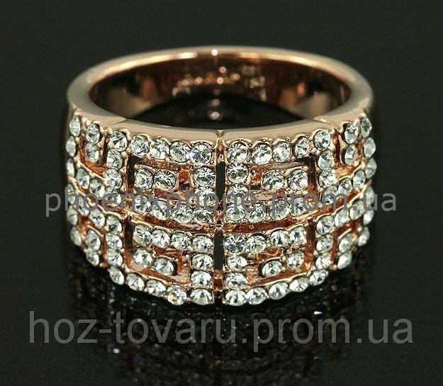 Шикарное кольцо с кристаллами Swarovski , покрытое золотом (106930) 17