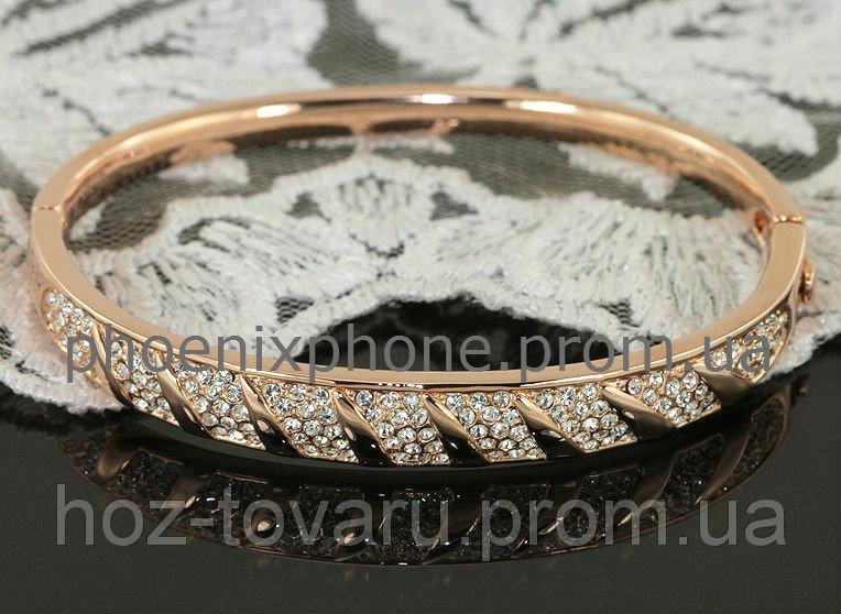 Пленительный браслет с кристаллами Swarovski, покрытый слоями золота (502460)