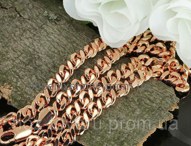 Красивая цепочка, плетение Bismark, покрытая золотом (40939)