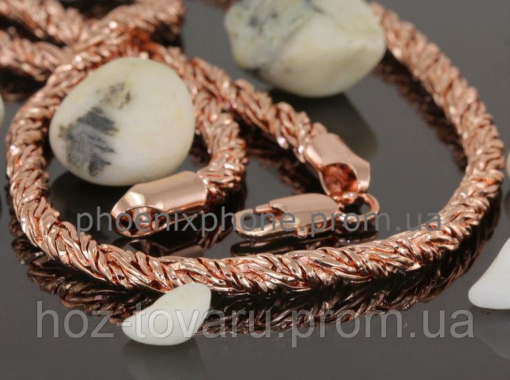 Солидная цепь, покрытая слоями золота(600мм*6мм) (40888)