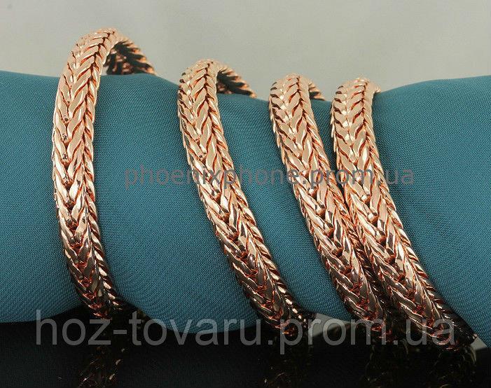 Солидная цепочка, покрытая золотом (40958) Длина 600 мм, ширина 7 мм
