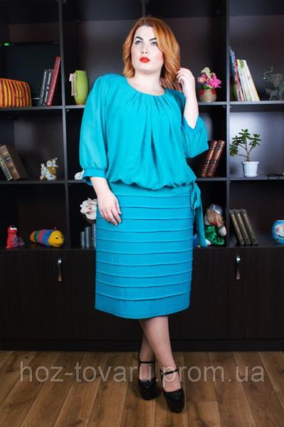 Платье Шифон батал (4 цвета)
