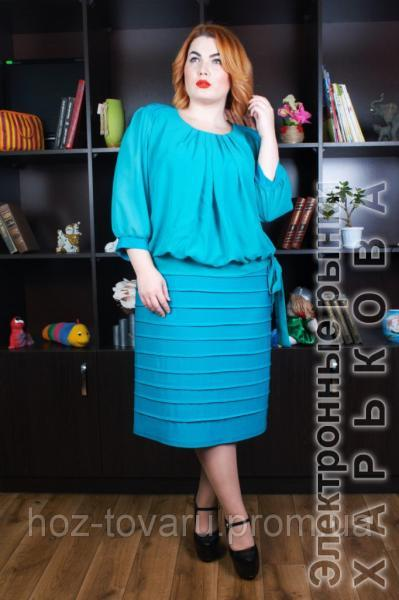 0cab7850a6c Платье Шифон батал (4 цвета) - Платья больших размеров на рынке Барабашова