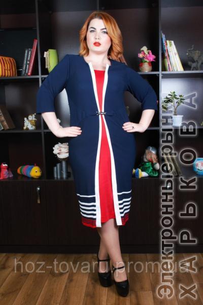 d1fb196bc4ae Платье большого размера Марго - Платья больших размеров на рынке Барабашова  ...