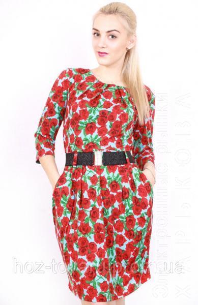 Платье Татьяна много роз - Платья, сарафаны женские на рынке Барабашова