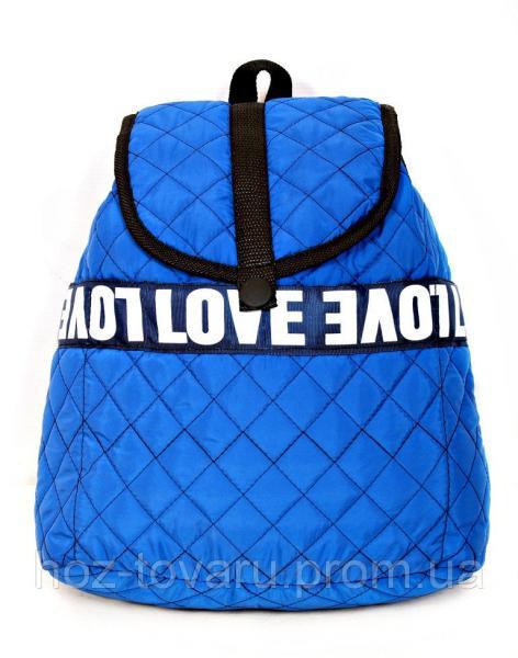 Рюкзак городской Шанель стеганный синий