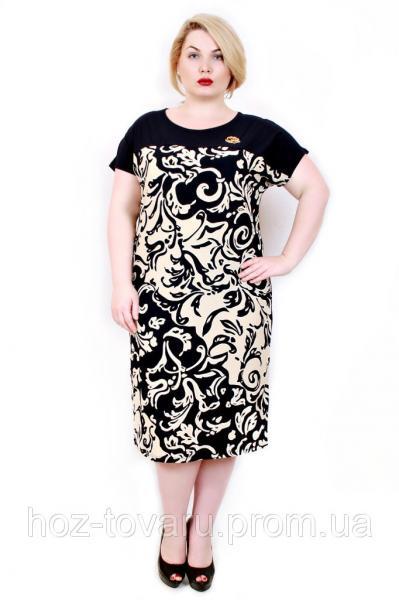 Платье большого размера сакура завиток