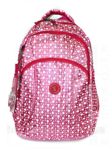 7a4626070da1 Рюкзак подростковый (школьный) Jastglad 1322 сердце (2 цвета) - Школьные  рюкзаки и портфели на рынке Барабашова