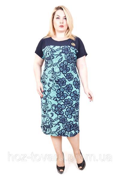 Платье большого размера сакура паутинка