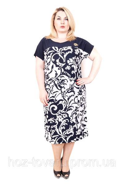 Платье большого размера сакура узор