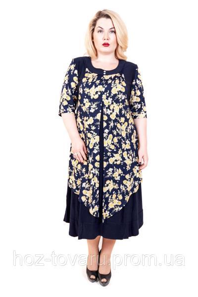 Платье большого размера Роза, платье с розами, платья больших размеров